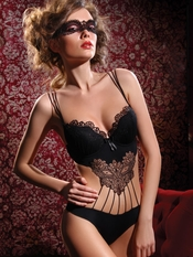 Sensual Black Teddy - On Sale