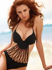 Jolidon Tribal Goddess Underwire Monokini - Final Sale