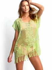 Seafolly Kyoto Lime Kaftan