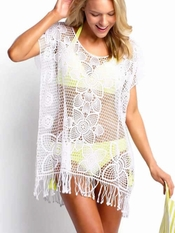 Seafolly Kyoto White Kaftan