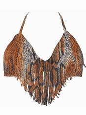 L Space Audrey Fringe Halter Serpentine - Final Sale