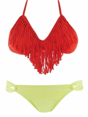 L Space Audrey Fringe Top Citrus Taboo - On Sale