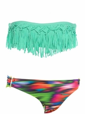 L Space EXCLUSIVE Dolly Fringe Bandeau Olivia - Final Sale