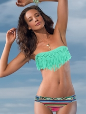 L Space EXCLUSIVE Dolly Fringe Bandeau Full Foxy - On Sale