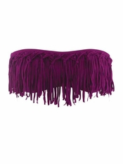 L Space Dolly Fringe Bandeau Berry - On Sale
