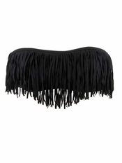 L Space Dolly Fringe Bandeau Black - Final Sale