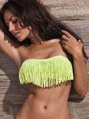 L Space Dolly Fringe Bandeau Citrus - On Sale