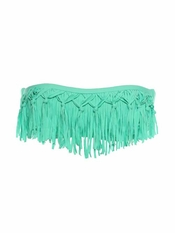 L Space Dolly Fringe Bandeau EXCLUSIVE Seafoam - On Sale