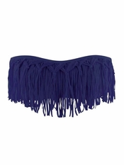 L Space Dolly Fringe Bandeau Steel - On Sale