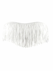 L Space Dolly Fringe Bandeau White - Final Sale