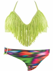 L Space Audrey Fringe Top Olivia Bikini - On Sale