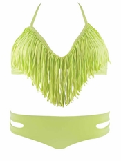 L Space Citrus Audrey Fringe Top Estella - Final Sale