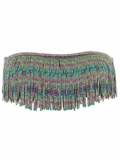L Space Dolly Fringe Bandeau Bikini Top Plumage