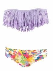 L Space Dolly Fringe Lavender Estella Bikini - Final Sale
