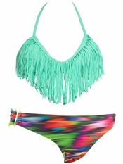 L Space Seafoam Audrey Fringe Olivia - On Sale