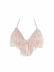 L Space Audrey Fringe Halter Shell  - Final Sale