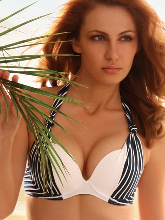 Jolidon European Swimwear 2012 Navy Top Women Designer Swimsuits