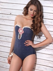Jolidon Denim One Piece Swimsuit - On Sale