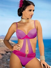 Meriell Pink Lady Push Up Monokini - Final Sale