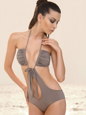 Prelude Desert Pearls Taupe Monokini - On Sale