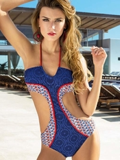 SABZ Navy Crochet Monokini - On Sale