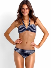 Seafolly Coastline Bandeau Banded Hipster - On Sale