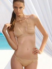 Prelude Stardust Tan Swarovski Swimsuit - Final Sale