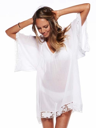 White Offshore Caftan by L Space