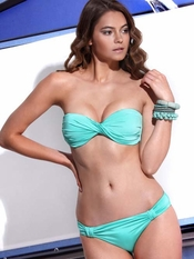 Jolidon Yacht Club Twist Bandeau Bikini - On Sale