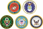 Five Branches of Service Decals