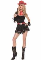 Bluegrass Cowgirl Sexy 4 PC Costume