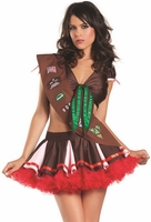 Cookie Girl Sexy 3 PC Costume