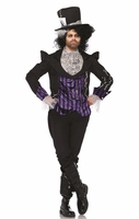 Dark Mad Hatter Sexy Men's Costume