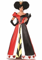 Deluxe Queen Of Hearts Sexy 2 PC Costume