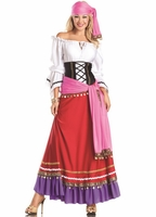 Deluxe Tempting Gypsy Sexy 5 PC Costume