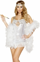 Femme Fatale Flapper Sexy 2 PC Costume