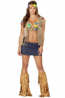 Foxy Flower Child Sexy 4 PC Costume
