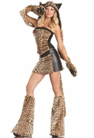 Lusty Leopard  Sexy 6 PC Costume