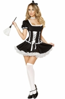 Mischievous Maid Sexy 4 PC Costume