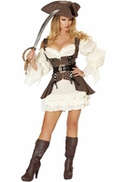 Naughty Ship Wench Sexy 4 PC Costume