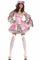 Pink Antoinette Sexy 4 PC Costume