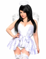Plus Size Top Drawer Sweet Angel Sexy 4 PC Costume