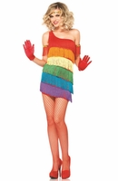 Rainbow Flapper Sexy Costume