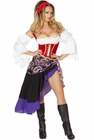 Sexy Gypsy Maiden Sexy 6 PC Costume