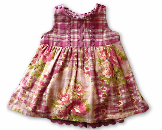 April Cornell Girls- Holiday Dress-Purple, Size 0-6M