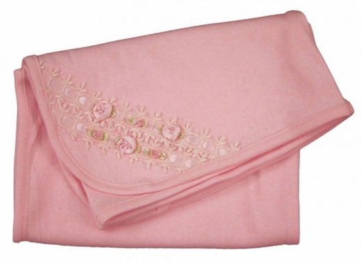 Biscotti Baby - *Born Beautiful* Blanket- Pink