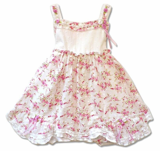Biscotti Baby Dress *Eyelet Rose* Only a size 24M left!