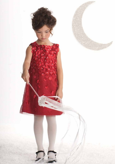 Biscotti Holiday Dress-*Falling For Dots Sleeveless Dress* in Red 4-6X