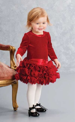 Biscotti Baby-Girl's Infant High Drama Dress, 12m only!