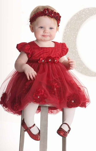 Biscotti Baby- Pocketful Of Posies Holiday Dress